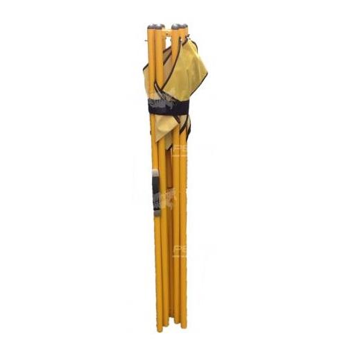 Мобильное переносное ограждение с ручкой с сложенном состоянии