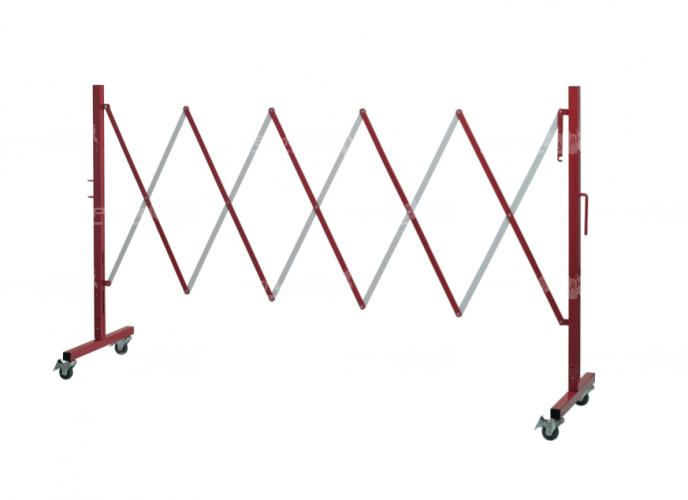 Стальное ограждение переносное 2.5 метра бело-красного цвета