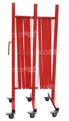 Переносное металлическое раздвижное ограждение длинной 5 метров