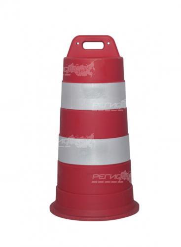Оградительная дорожная тумба для обозначения опасности
