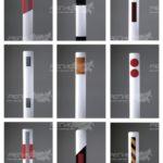 Варианты исполнения столбиков дорожных стилфлекс