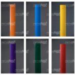 Различные цветовые решения столбиков сигнальных дорожных стилфлекс ( steelflex )