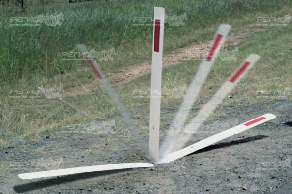Столбик дорожный стилфлекс демонстрация работы
