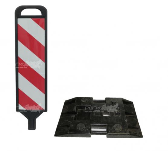 Щит из черного пластика для ограждения местности