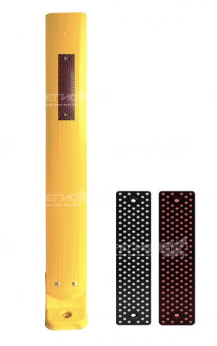 Столбик с катафотом С3П желтого цвета