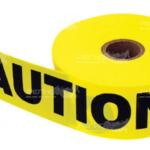 Оградительная сигнальная лента желтого цвета Caution