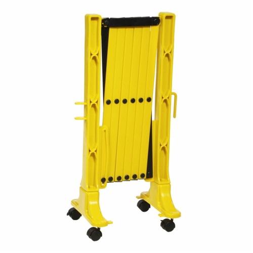 Переносное ограждение (Желтый забор на колесах) в сложенном виде